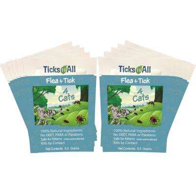 Ready-To-Use All Natural Flea and Tick Wipes 4 Cats (10-Count)