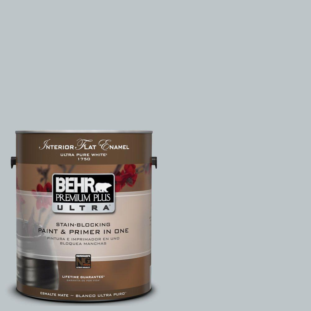 BEHR Premium Plus Ultra 1 gal. #UL220-9 Misty Morn Matte Interior Paint and Primer in One