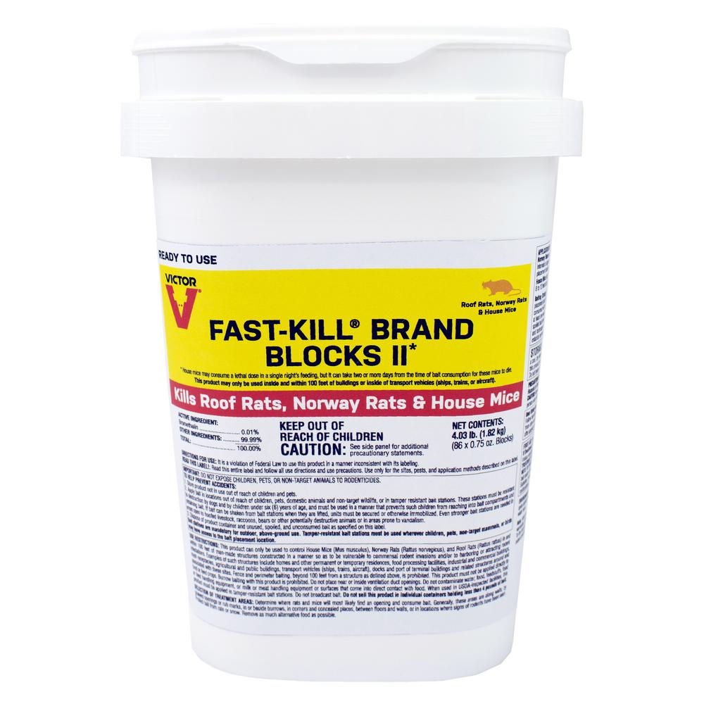 Victor Fast Kill 4 03 Lbs Rodenticide Bait Blocks M904 The Home Depot