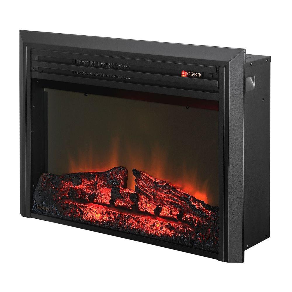 Muskoka 28 in. LED Log Set Electric Firebox Insert in Black-DISCONTINUED