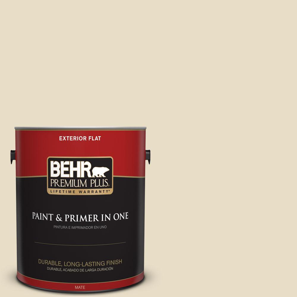 BEHR Premium Plus 1-gal. #ECC-17-2 Dry Creek Flat Exterior Paint