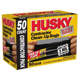 HUSKY 42 Gal Contractor Bags 50CountHK42WC050B The Home Depot