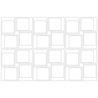17.5 in. x 24 in. White Snapshot Frames Wall Art Kit