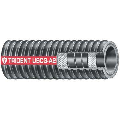 2 in. x 12.5 ft. Type A2 Corrugated Fuel Fill Hose, Black