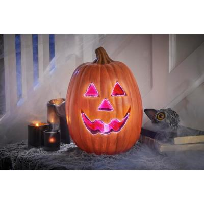 12 in. Blow Mold Pumpkin Fiber Optic Traditional Face (OPG)