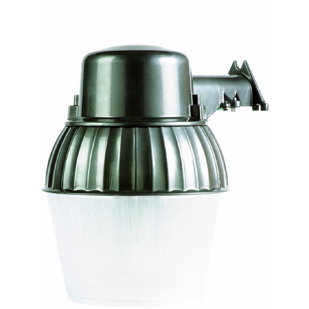 200-Watt Bronze Universal Bulb Outdoor Dusk to Dawn Security Area Light with 10 in. Acylic Lens