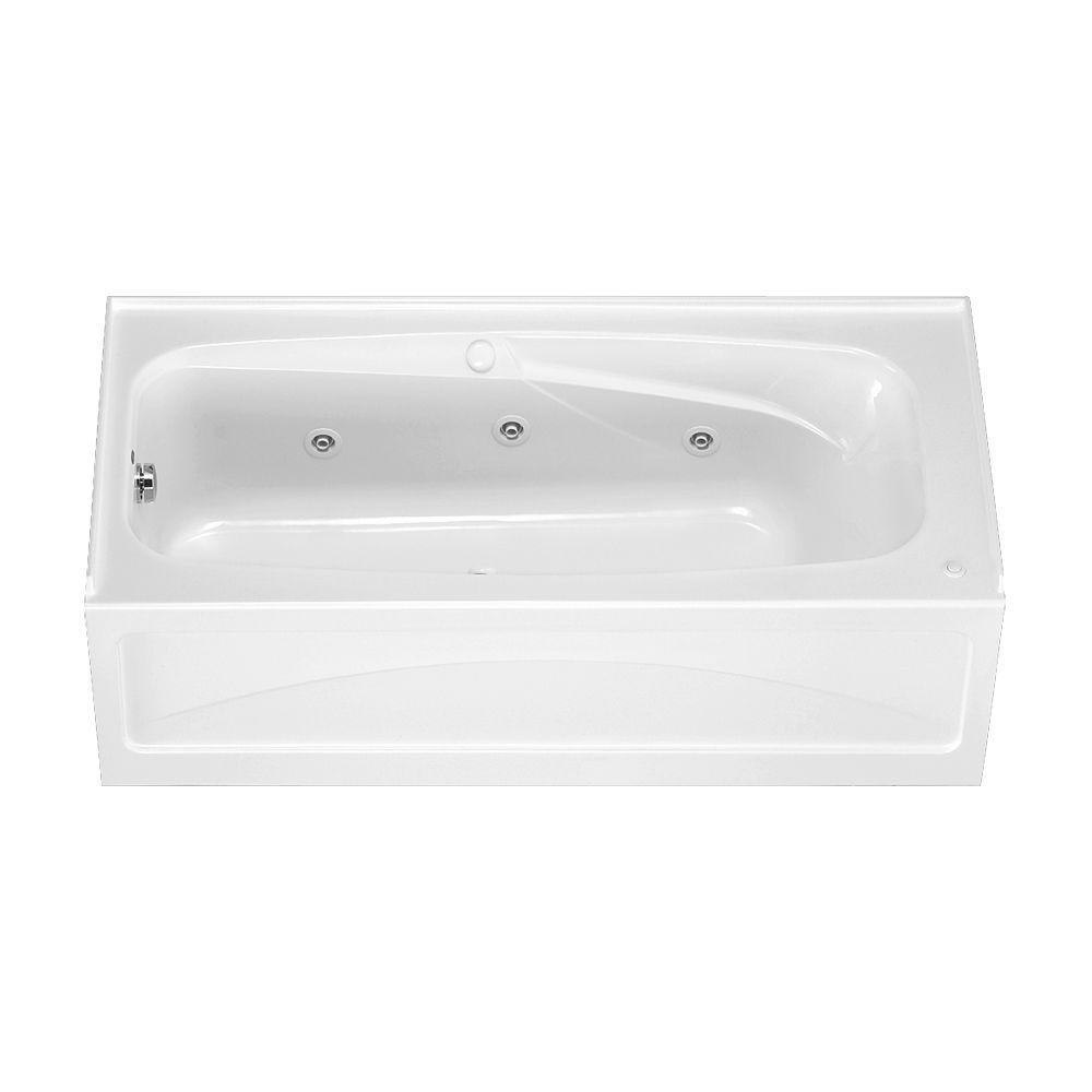 Colony 5.5 ft. x 32 in. Left Drain Whirlpool Tub with