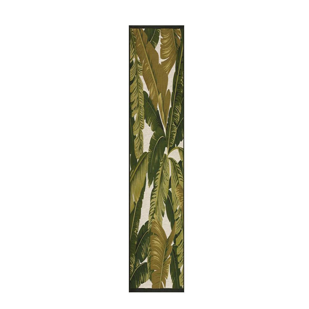 Pindo Ivory/Green 2 ft. x 8 ft. Runner Rug