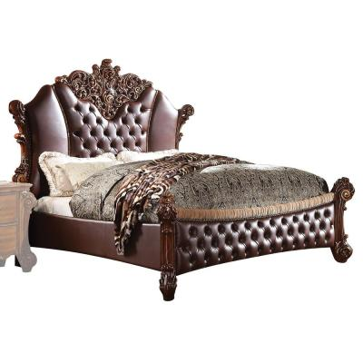 Vendome Ii Pu and Cherry Queen Bed