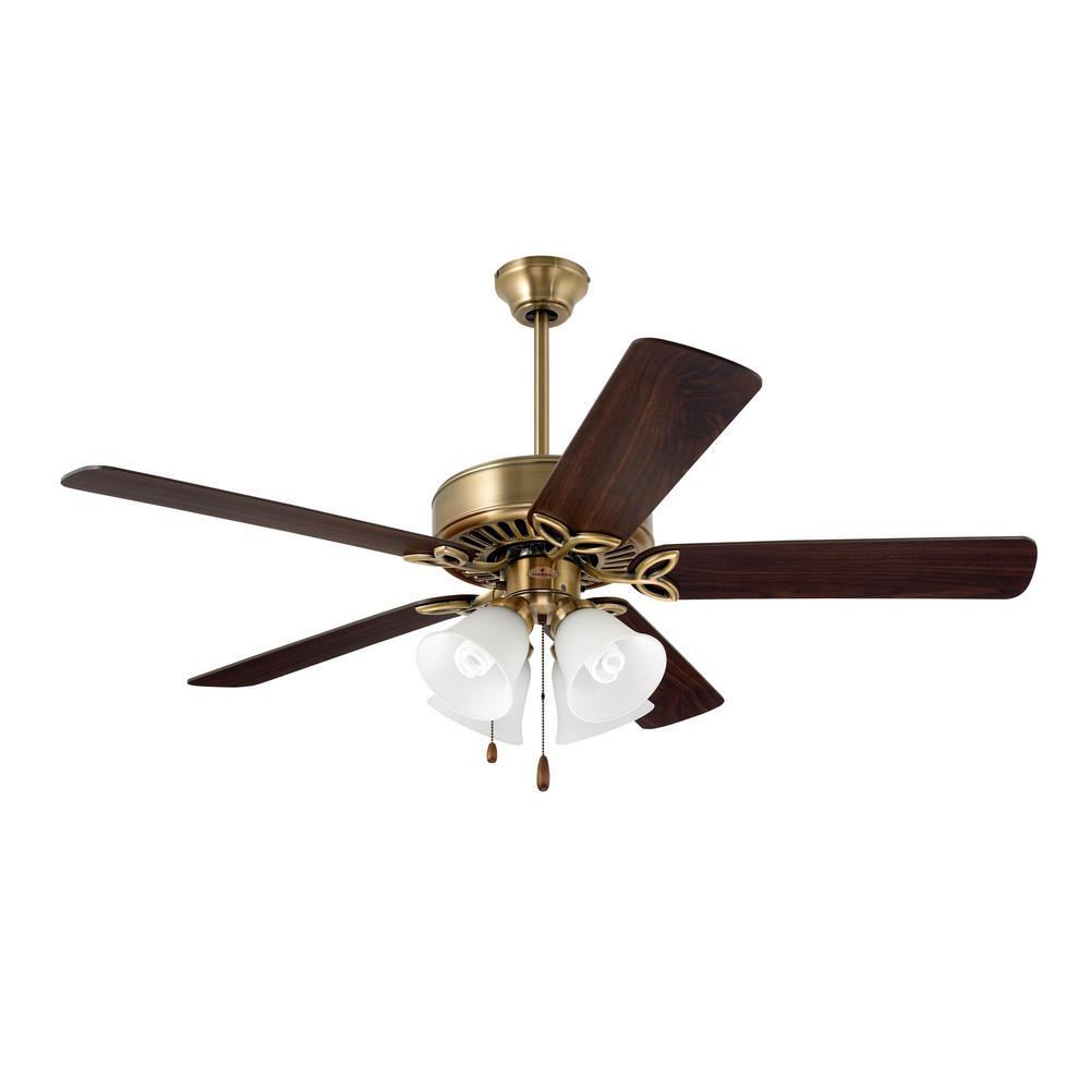 Hunter Bixby 46 In Indoor Antique Brass Ceiling Fan 28791