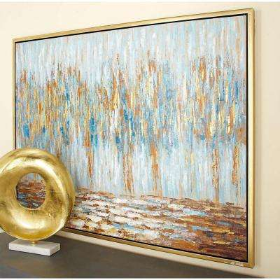 "36 in. x 47 in. Abstract ""Autumn Colorfield"" Canvas Art"