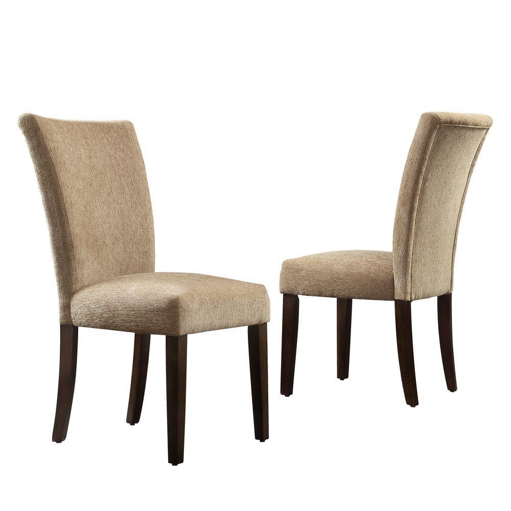 HomeSullivan Whitmire Camel Chenille Parsons Dining Chair (Set of 2)