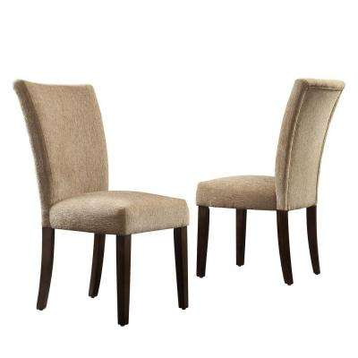 Whitmire Camel Chenille Parsons Dining Chair (Set of 2)