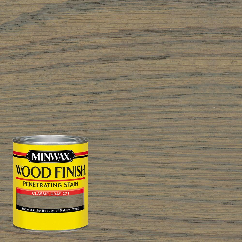 1 qt. Wood Finish Classic Gray Oil Based Interior Stain