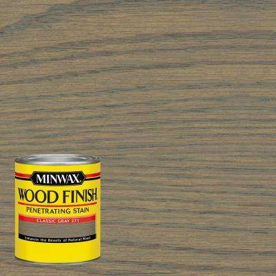 1 qt. Wood Finish Classic Gray Oil Based Interior Stain (4-Pack)