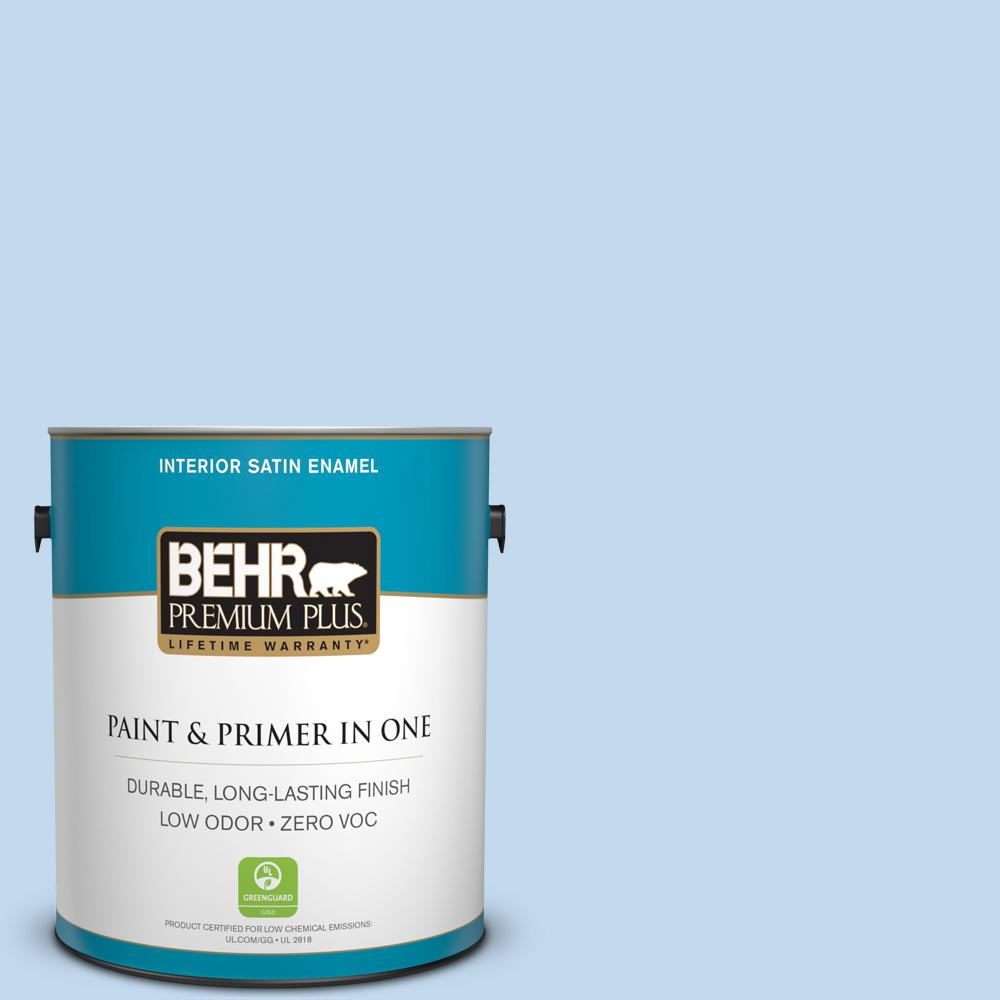 1-gal. #560A-2 Morning Breeze Zero VOC Satin Enamel Interior Paint