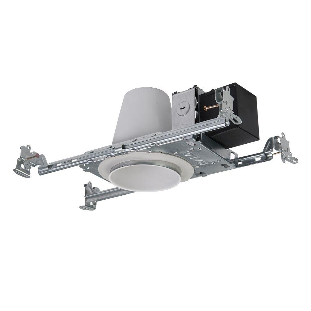 Steel Recessed Lighting Housing for New Construction Shallow Ceiling  LowHalo H1499 4 in  Steel Recessed Lighting Housing for New  . Shallow Housing Recessed Lighting. Home Design Ideas