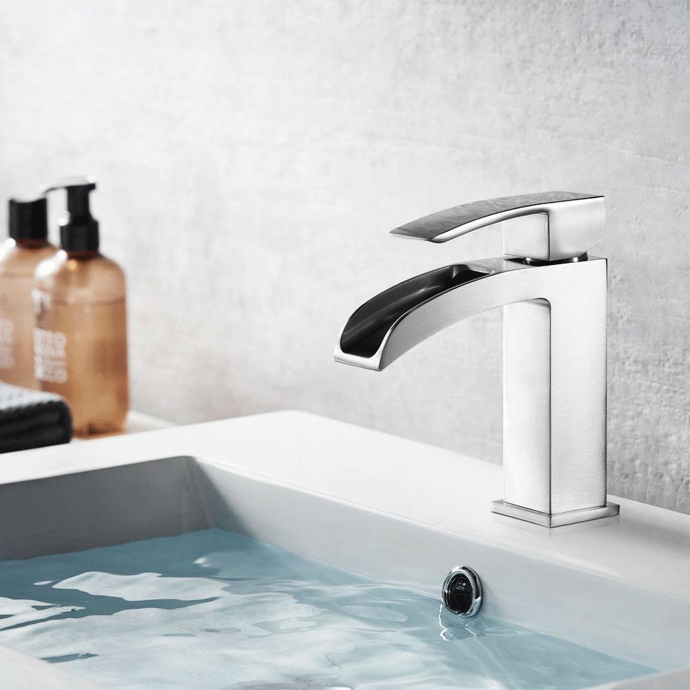Liberty Single Hole Single-Handle Bathroom Faucet in Brushed Nickel
