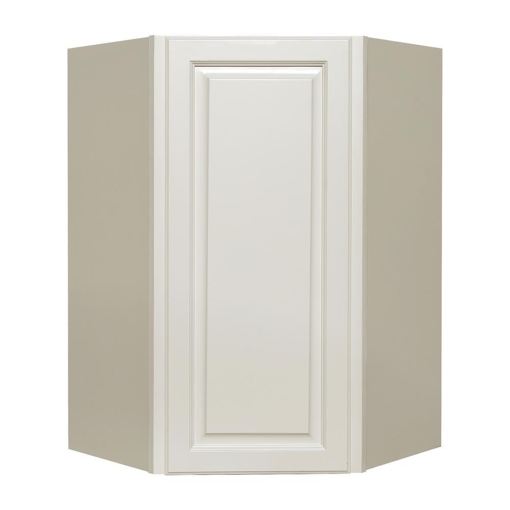 Lifeart Cabinetry La Newport Assembled 24x36x12 In 1 Door Wall
