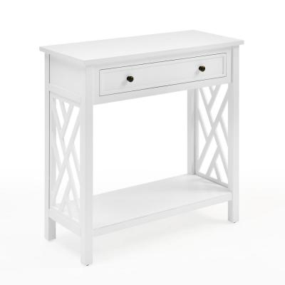 "Coventry 32"" Wood Console Table with Drawer and Shelf"