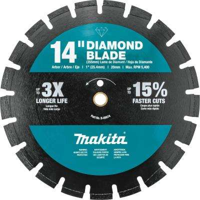 14 in. Segmented Rim Dual Purpose Diamond Blade