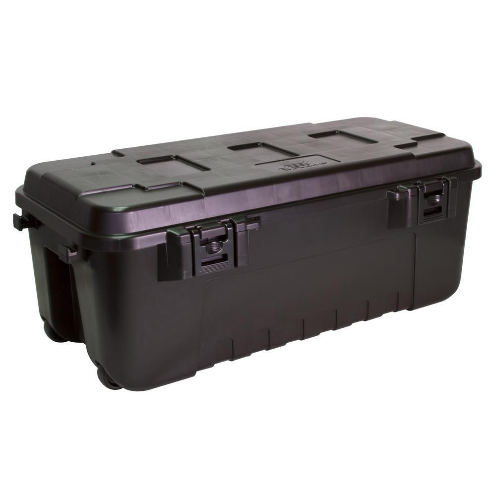 Black 108 Quart Waterproof Storage Trunk