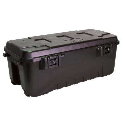 Black 108 Quart Waterproof Storage Trunk