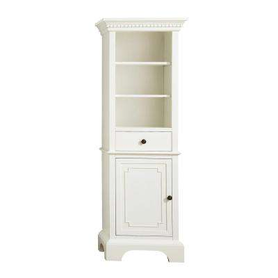 Hastings 22 in. W x 16 in. D x 65 in. H Linen Tower in French White