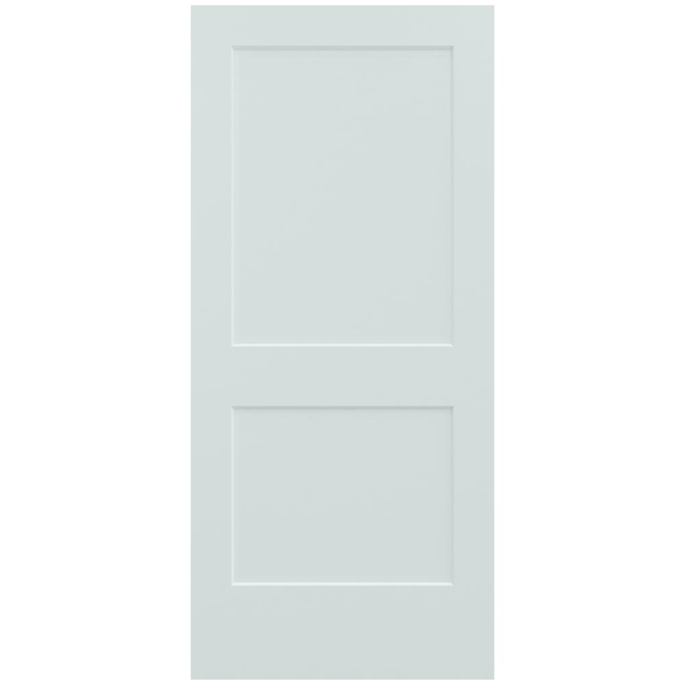 36 in. x 80 in. Monroe Light Gray Painted Smooth Solid