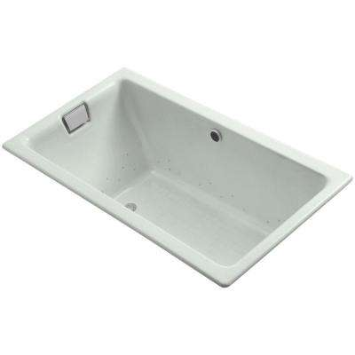 Tea-for-Two BubbleMassage 6 ft. Air Bath Tub in Sea Salt