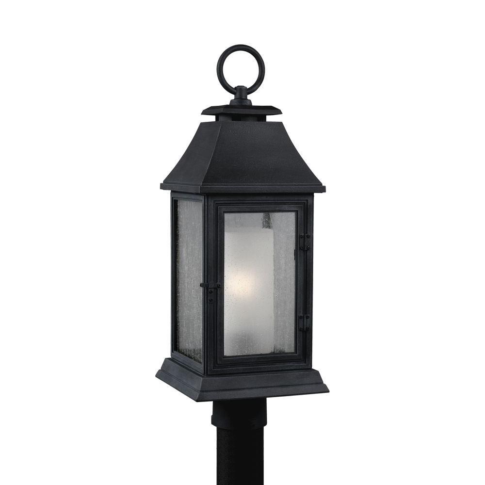 Shepherd 1-Light Dark Weathered Zinc Outdoor Post Top Light