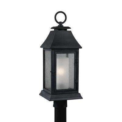 Shepherd 1-Light Dark Weathered Zinc Outdoor Post Top Light