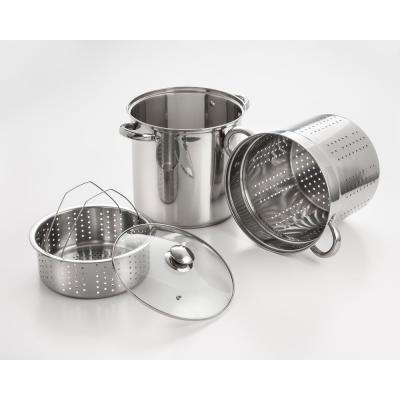 20 Qt. Professional 18/10 Stainless Steel Multi-Cooker with Lid (4-Piece)