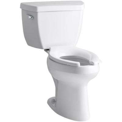 Santa Rosa Comfort Height 1-Piece 1.28 GPF Single Flush Compact Elongated Toilet with AquaPiston Flush in White