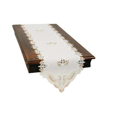 0.1 in. H x 15 in. W x 70 in. D Anais Elegant Lace Embroidered Cutwork Table Runner