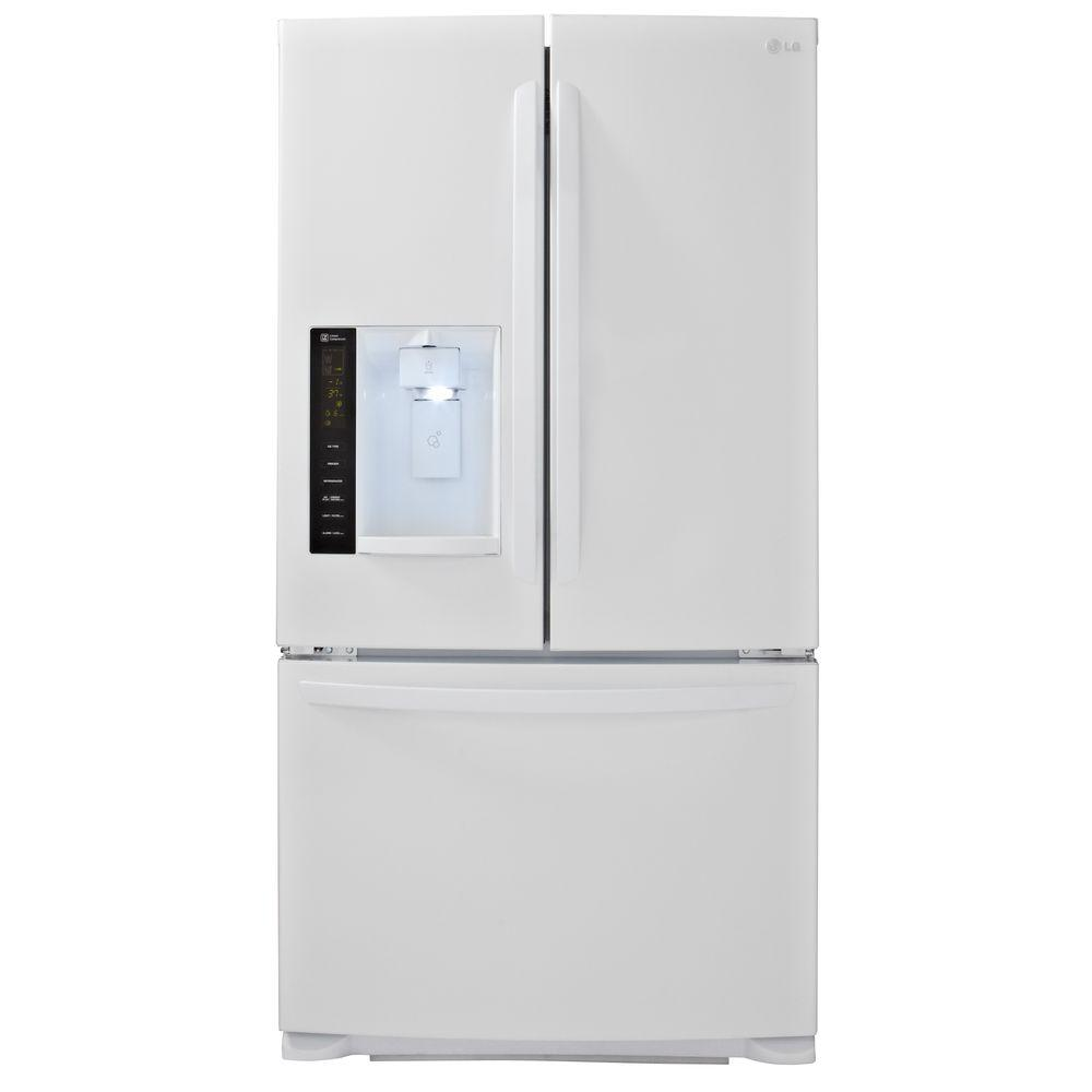 Lg electronics 241 cu ft french door refrigerator in white lg electronics 241 cu ft french door refrigerator in white rubansaba