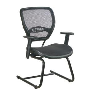 Deluxe Black AirGrid Back Visitor Office Chair
