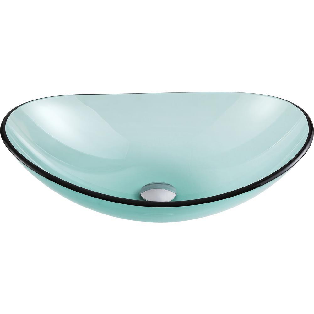 Tale Deco-Glass Vessel Sink in Lustrous Green