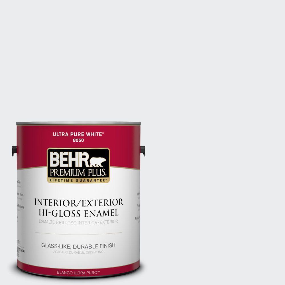 1-gal. #BWC-12 Vibrant White Hi-Gloss Enamel Interior/Exterior Paint