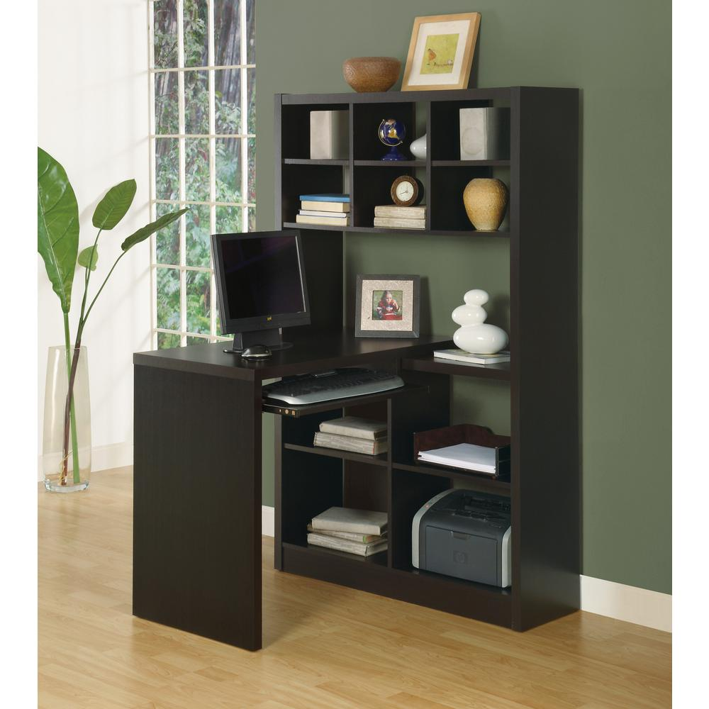 Hollow-Core 2-in-1 Piece Cappuccino Office Suite