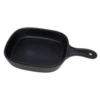 7.5 in. Black Iron-Look Square Plate