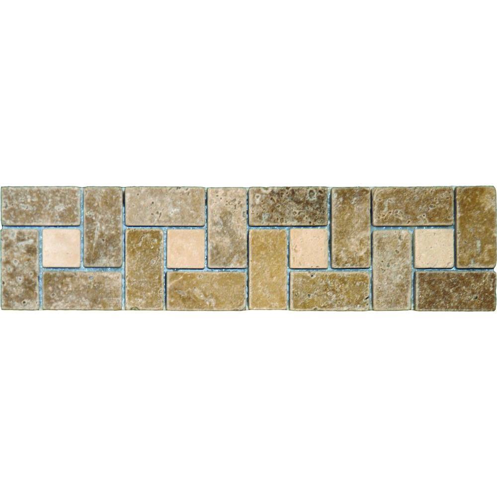 Ms international noche chiaro basketweave 3 in x 12 in for International decor tiles