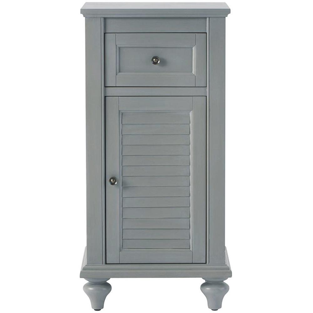 Hamilton 35 in. H x 17 in. W Linen Storage Cabinet in Grey