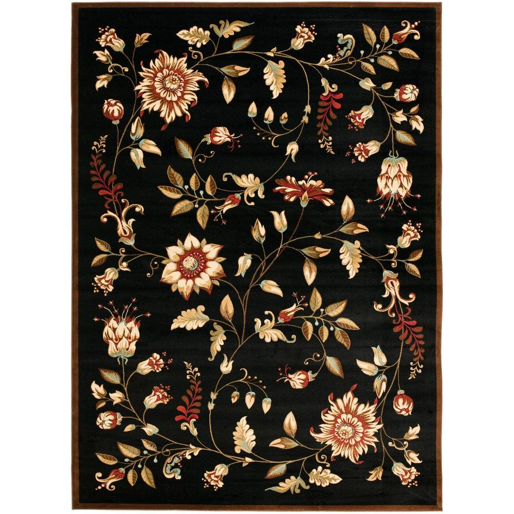 Wonderful Safavieh Lyndhurst Black/Multi 8 ft. x 11 ft. Area Rug-LNH552-9091  MT05