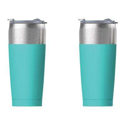 2-Piece Turquoise 20 oz. Tied Tumbler Set