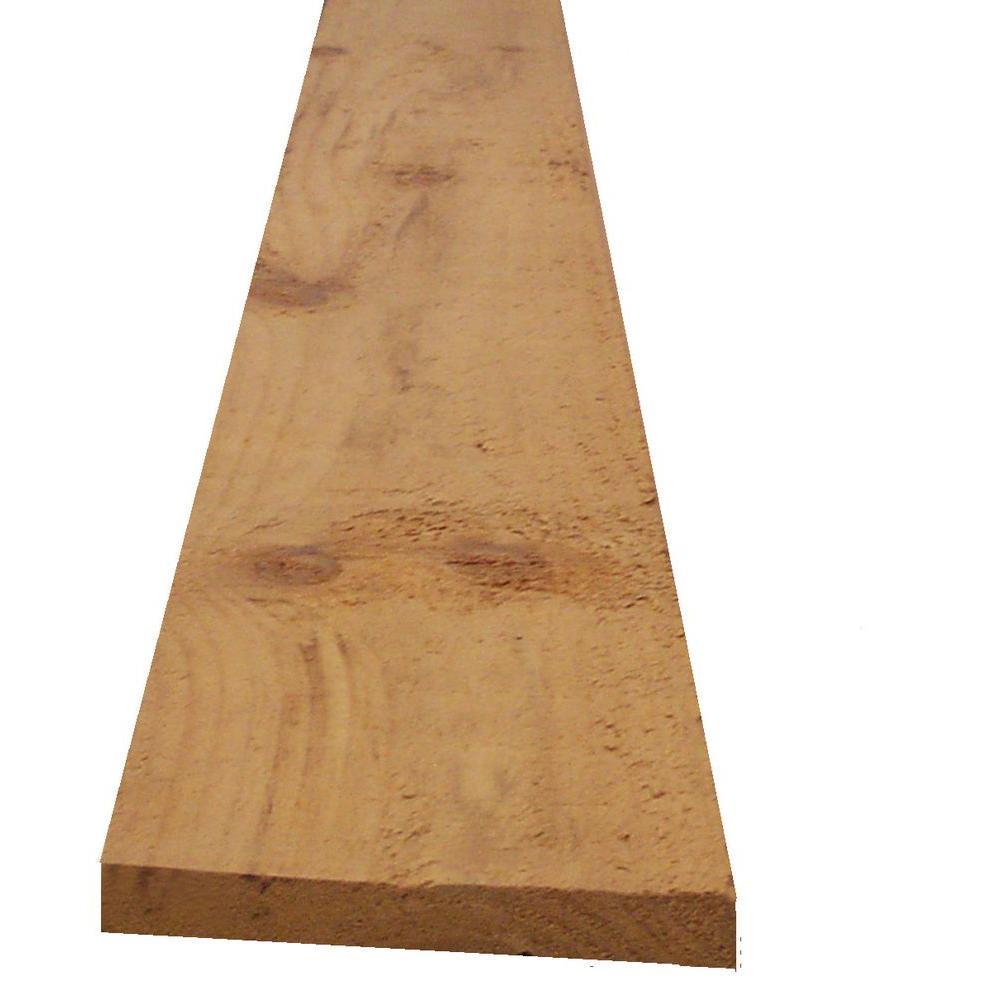 1 in  x 4 in  x 12 ft  Heat-Treated Southern Yellow Pine Furring Strip Board