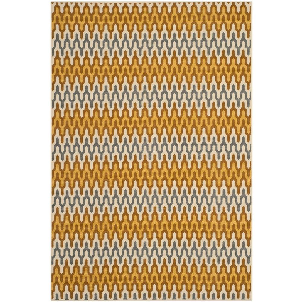 Safavieh Hampton Camel/Brown 6 ft. 7 in. x 9 ft. 6 in. Indoor/Outdoor Area Rug
