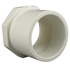 charlotte pipe 1 1 2 in x 3 4 in pvc sch 40 reducer bushing pvc021081600hd the home depot. Black Bedroom Furniture Sets. Home Design Ideas
