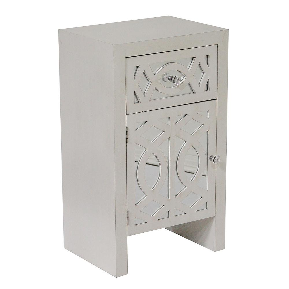 Shelly Assembled 18 in. x 18 in. x 13 in. Antique