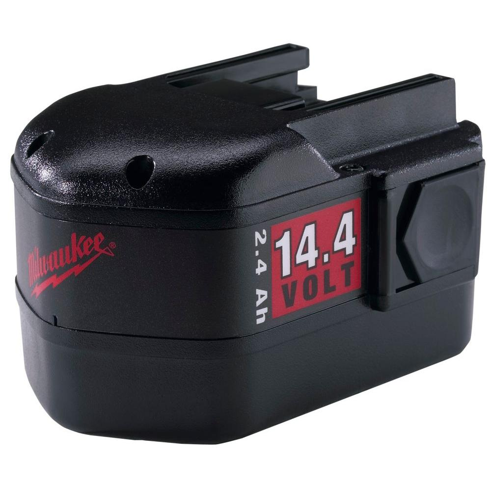 Milwaukee 14.4-Volt NiCd Slide Style Battery Pack 2.4Ah